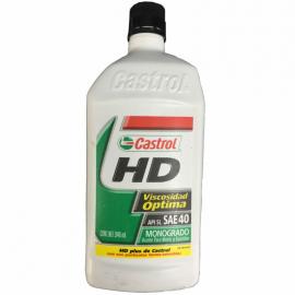 Botella de Aceite Castrol HD Monogrado Mineral SAE 40 para Motores a Gasolina
