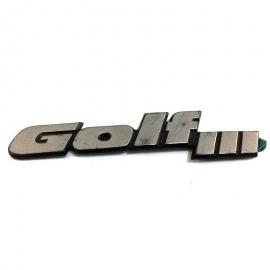 """Letrero """"Golf III"""""""