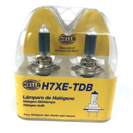 Kit de 2 Focos H7 de Luz Blanca Tipo Xenón de 55w Hella