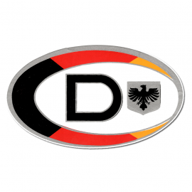 "Calcomania ""D"" de DEUTSCHLAND"