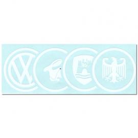 Calcomanía Externa de Vinyl con Emblema VW, RABBIT, WOLFSBURG, GERMANY