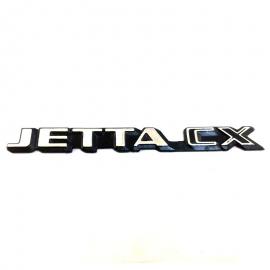 Letrero Cromado Adherible de Cajuela JETTA CX para Jetta A2