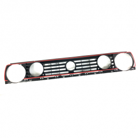 Parrilla de 4 Faros con Línea Roja Tipo GTI Pro Fortune para Golf A2