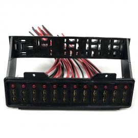 Porta fusibles con indicadores LED para VW Sedan 1600, 1600i, Combi, Safari, Brasilia