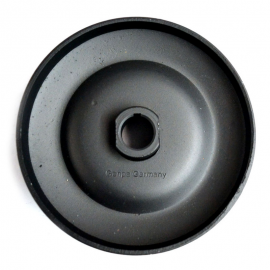 Polea de generador Negra (QUINTADA TIPO ORIGINAL) para VW Sedan 1600, 1600i, Combi 1600, Brasilia, Safari.