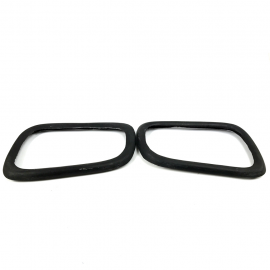 Juego de 2 Protectores de Espejos de Fibra de Vidrio Color Negro para Golf A4, Jetta A4, Pointer G3, G4, Sharan