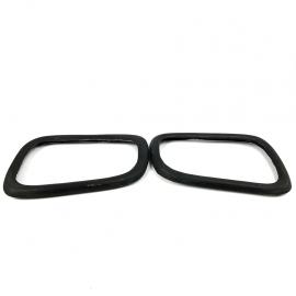 Juego de Protectores de Espejos de Fibra de Vidrio color Negro para Golf A4, Jetta A4, Pointer G3, G4, Sharan