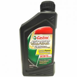 Botella de Aceite SAE 5W-50 Sintético Castrol Edge para Motores a Gasolina y Diésel
