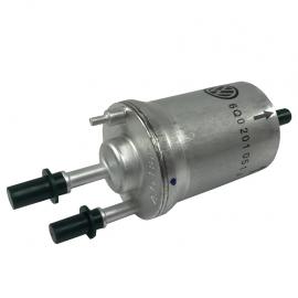 Filtro de Gasolina de 2 Salidas con Regulador Integrado de 4.0 Bares Original para Polo 9N, Sport Van, Vento, Ibiza