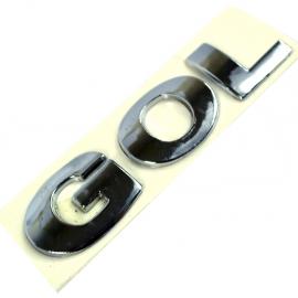 Letrero Cromado Adherible de Cajuela y Puerta Trasera para Gol G5