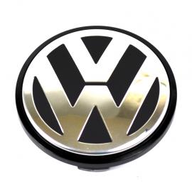 Tapón Central de Rin de Aluminio con Emblema VW ORIGINAL para Bora, Golf A5, Passat B6, Tiguan