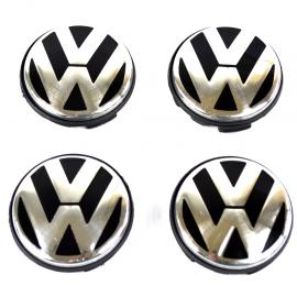 Juego de Tapones con Emblema VW de Centro de Rin para Bora, Jetta A6, Golf A5, A6, Tiguan, Passat B6, B7