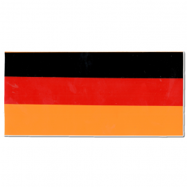 "Calcomania ""BANDERA ALEMANIA"" cuadrada"