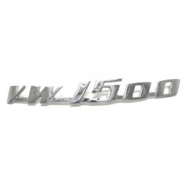 Letrero Metálico VW 1500 Cromado para VW Sedan