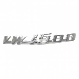 Letrero Metálico VW 1500 Cromado para VW Sedan 1500