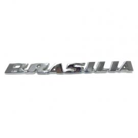 Letrero Metálico Cromado de Tapa Trasera para Brasilia