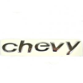 Letrero Cromado Adherible de Puerta Trasera CHEVY para Chevy C2