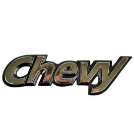 Letrero Cromado Adherible de Puerta Trasera y Cajuela CHEVY para Chevy C1