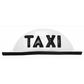 Copete Redondo de Acrílico Blanco para Taxi