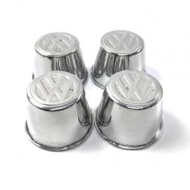 Juego de copas Metálicas de rin con emblema VW Cromadas para VW Sedan 1600, 1600i