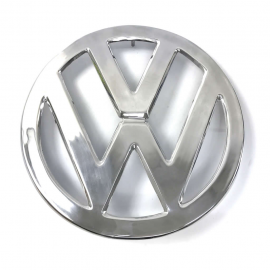 Emblema VW Grande Frontal de Metal Pulido para Combi Hippie