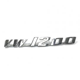 Letrero Metálico VW 1200 Cromado para VW Sedan 1200