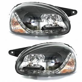 Faros para Chevy C1, Monza C1 y Chevy Pick-up (Tira de LEDs, Lupa y Ojo de Angel)