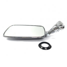 Espejo Retrovisor Izquierdo Metálico Cromado Auto Especialidades para VW Sedan