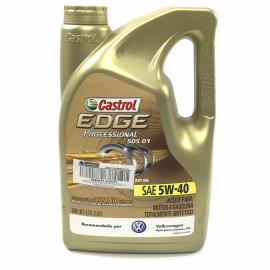 Garrafa de Aceite Castrol Edge Sintético SAE 5W-40 para Motores a Gasolina y Diésel