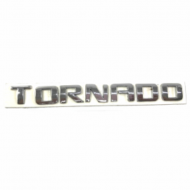 "Letrero Cromado Adherible de Tapa Batea ""Tornado"""