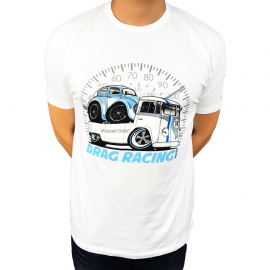 "Camiseta ""Drag Racing"" (Blanca)"
