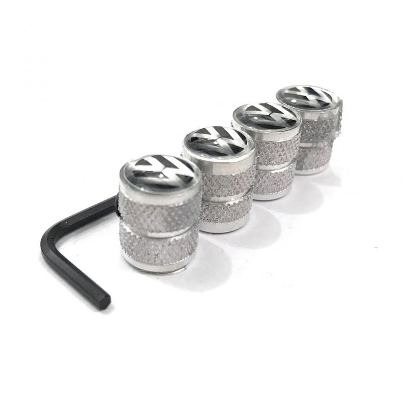 juego de tapones de valvula quotvwquot negros con llave antirobo