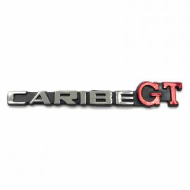 Letrero Cromado Adherible de Cajuela CARIBE GT