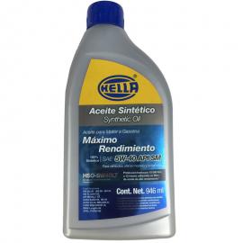 Botella de Aceite de Motor HELLA Multigrado Sintético SAE 5W-40