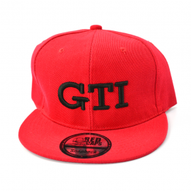 "Gorra GTI ""relieve"" (Roja, Vicera Roja)"