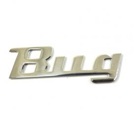 Letrero de Acero Inoxidable con la Leyenda BUG para VW Sedan