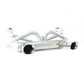 Mofle Silenciador Super Power con 2 Salidas Cromadas Tipo Oreón Miller para VW Sedan 1600