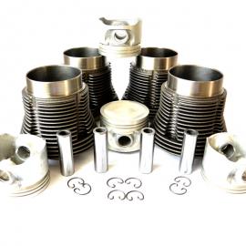 Conjunto de Motor MORESA con Pistones CONCAVOS para VW Sedan 1600, Combi, Brasilia, Safari, Hormiga