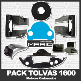 Pack de Tolvas Negras de Motor para Vw Sedan, Brasilia y Safari (Motores 1600 Carburado)