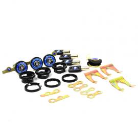 Kit de Chapas de Seguridad Universales con Llaves de Rodillo Racing Tec