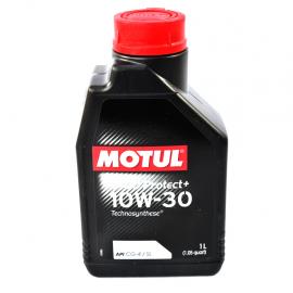 Botella de aceite Motul 10W-30 sintetico