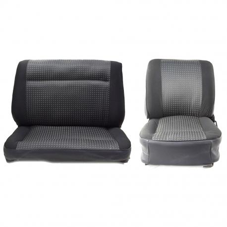 Cubiertas De Asiento De Coche Apto Volkswagen Caddy-XR Negro//Gris Oscuro Estilo Deportivo