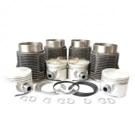 Conjunto de Motor con Pistones Planos Moresa para VW Sedan 1600, Combi 1600, Brasilia, Safari, Hormiga