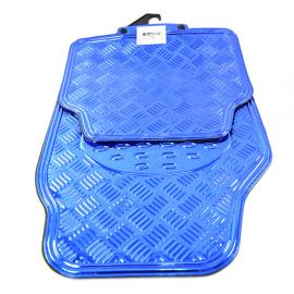 Juego de tapetes UNIVERSALES de estilo metálico color azul para coches