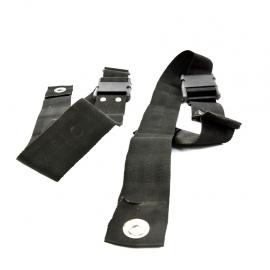 Par de cinturones Universales de seguridad ajustables para asientos delanteros o traseros.
