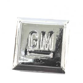 Letrero de cuadro Grande con el emblema GM adherible de salpicadera