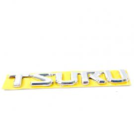 Emblema TSURU cromado adherible para Tsuru 3 Última generación.