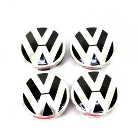 Juego de 4 Tapones centrales de rhines de Aluminio con emblema VW para Golf A4, Jetta A4, Beetle, Pointer, Derby