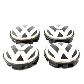 Juego de 4 Tapones Centrales de Rin de Aluminio con Emblema VW y Patas Largas para Jetta A6, Bora, golf A5, Passat, Tiguan