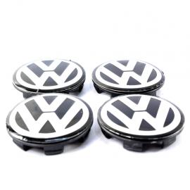Juego de Tapones Centrales de Rin de Aluminio con Emblema VW para Tiguan, Touareg